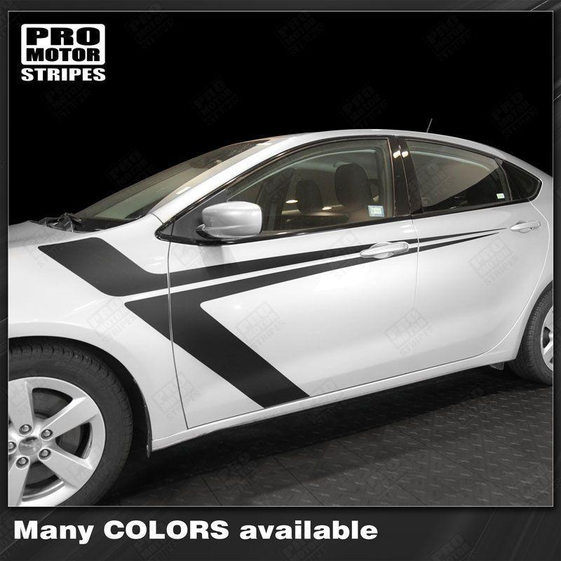 Dodge Dart 2013-2018 Side Accent Sport Stripes Auto Decals - Pro Motor Stripes