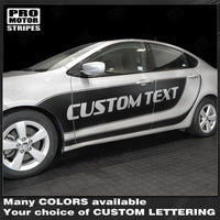 Dodge Dart 2013-2018 Side Accent Sport Stripes Blackout Decals