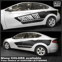 Dodge Dart 2013-2018 Side Accent Stripes Blackout Decals