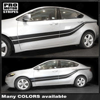 Dodge Dart 2013-2018 Side Double Stripes Accent Decals