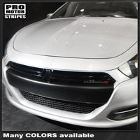 Dodge Dart 2013-2018 SXT Front Bumper Blackout Overlay Decals