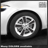 "Dodge Dart 2013-2018 - Wheel Spoke Overlay Decals for 16"" Rims"