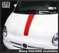 Fiat 500 2007-2015 Center Hood Accent Stripe Decal Auto Decals - Pro Motor Stripes