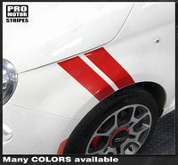Fiat 500 2007-2015 Fender Hash Double Side Stripes Auto Decals - Pro Motor Stripes