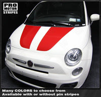 2007 2008 2009 2010 2011 2012 2013 2014 2015 Fiat 500 hood Decals Stripes 122551589174-2