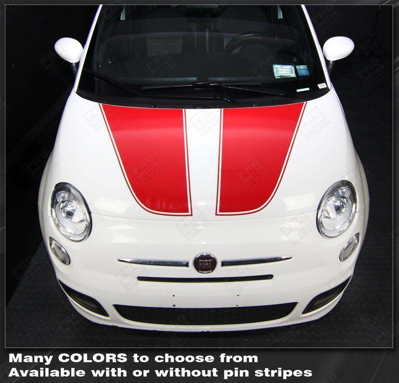 2007 2008 2009 2010 2011 2012 2013 2014 2015 Fiat 500 hood Decals Stripes 122551589174-1