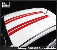 2007 2008 2009 2010 2011 2012 2013 2014 2015 Fiat 500 hood  roof Decals Stripes 152588450866-2