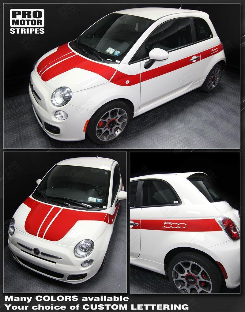 2007 2008 2009 2010 2011 2012 2013 2014 2015 Fiat 500 hood  side  door Decals Stripes 152588449546-1