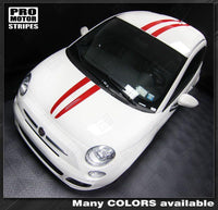 2007 2008 2009 2010 2011 2012 2013 2014 2015 Fiat 500 hood  bumper  roof Decals Stripes 132256815728-1