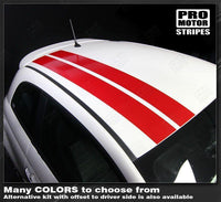 Fiat 500 2007-2015 Over-the-top Offset Double Stripes Auto Decals - Pro Motor Stripes
