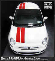 2007 2008 2009 2010 2011 2012 2013 2014 2015 Fiat 500 hood  roof Decals Stripes 122551589164-1