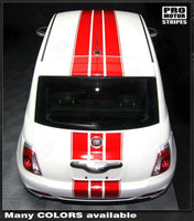 2007 2008 2009 2010 2011 2012 2013 2014 2015 Fiat 500 hood  bumper  roof Decals Stripes 122551585365-2