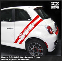 2007 2008 2009 2010 2011 2012 2013 2014 2015 Fiat 500 side Decals Stripes 132229430482-1