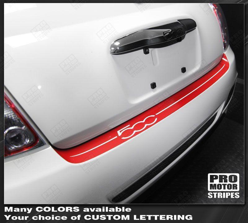 2007 2008 2009 2010 2011 2012 2013 2014 2015 Fiat 500 bumper Decals Stripes 122593480775-1
