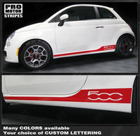 2007 2008 2009 2010 2011 2012 2013 2014 2015 Fiat 500 side  rocker panel Decals Stripes 132257598581-1