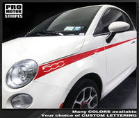 Fiat 500 Side /& Rear Mid-Body Stripes Decals 2012 2013 2014 2015 Pro Motor