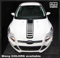 Ford Focus 2011-2014 Center Hood Strobe Accent Stripe Decal