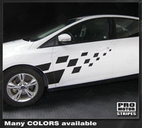 Ford Focus 2011-2018 Front Checkered Side Rally Stripes