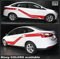 2011 2012 2013 2014 2015 2016 2017 2018 Ford Focus side  door  rocker panel Decals Stripes 132253243392-2