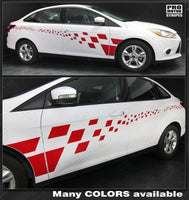 2011 2012 2013 2014 2015 2016 2017 2018 Ford Focus side  door Decals Stripes 122551586573-1