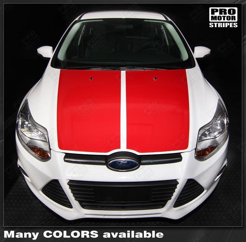 Ford Focus 2011-2014 Highlight or Blackout Hood Stripes Auto Decals - Pro Motor Stripes