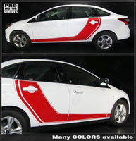 2011 2012 2013 2014 2015 2016 2017 2018 Ford Focus side  door  rocker panel Decals Stripes 152588453897-2