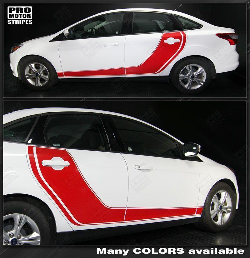 2011 2012 2013 2014 2015 2016 2017 2018 Ford Focus side  door  rocker panel Decals Stripes 122586273163-1