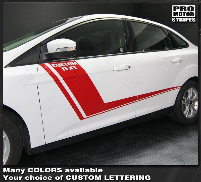 2011 2012 2013 2014 2015 2016 2017 2018 Ford Focus side  door Decals Stripes 152588453952-1