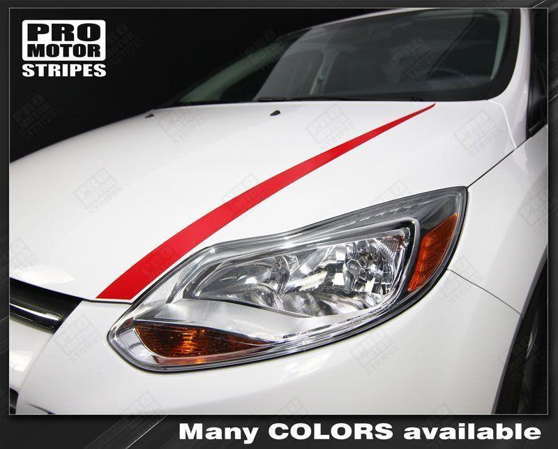 2011 2012 2013 2014 Ford Focus hood Decals Stripes 122551591962-1