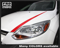 Ford Focus 2011-2014 Hood Accent Spear Stripes Auto Decals - Pro Motor Stripes