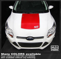 2011 2012 2013 2014 Ford Focus hood Decals Stripes 122551589886-2