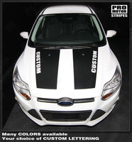 2011 2012 2013 2014 Ford Focus hood Decals Stripes 152588453902-1