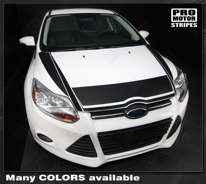 2011 2012 2013 2014 Ford Focus hood  trunk Decals Stripes 122551585412-1