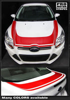 2011 2012 2013 2014 Ford Focus hood  trunk Decals Stripes 152588449543-1