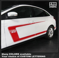 2011 2012 2013 2014 Ford Focus hood  side  door Decals Stripes 152588443048-3