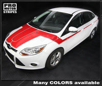 2011 2012 2013 2014 Ford Focus hood  side  door Decals Stripes 152588449596-3