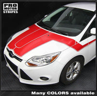 Ford Focus 2011-2014 Hood to Side Accent Stripes