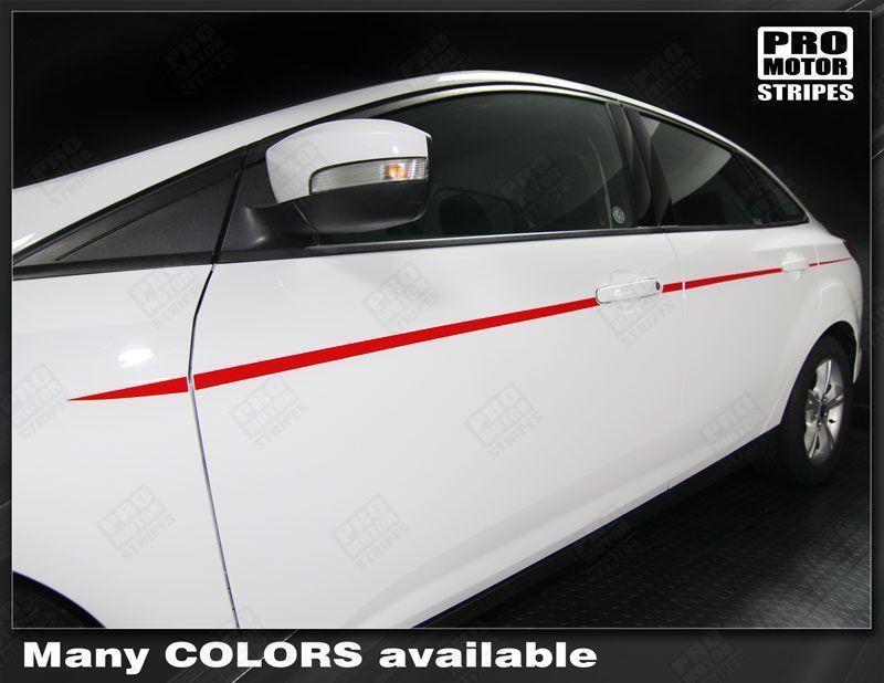 2011 2012 2013 2014 2015 2016 2017 2018 Ford Focus side  door Decals Stripes 152615278146-1