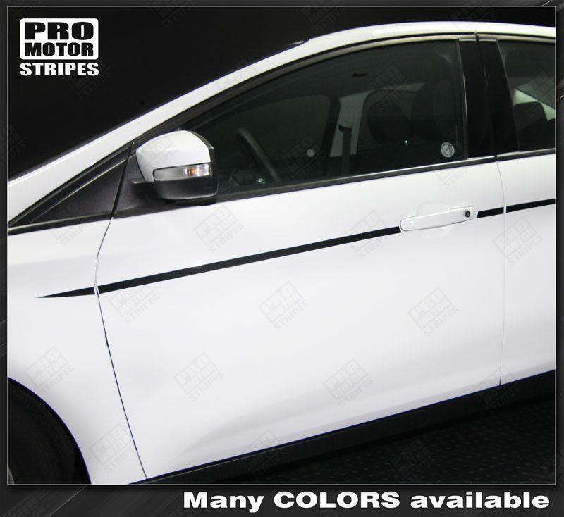 2011 2012 2013 2014 2015 2016 2017 2018 Ford Focus side  door Decals Stripes 122551591279-1