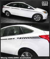 2011 2012 2013 2014 2015 2016 2017 2018 Ford Focus side  door Decals Stripes 152588455745-1