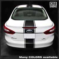 2011 2012 2013 2014 Ford Focus hood  trunk  bumper  roof Decals Stripes 132253225965-4