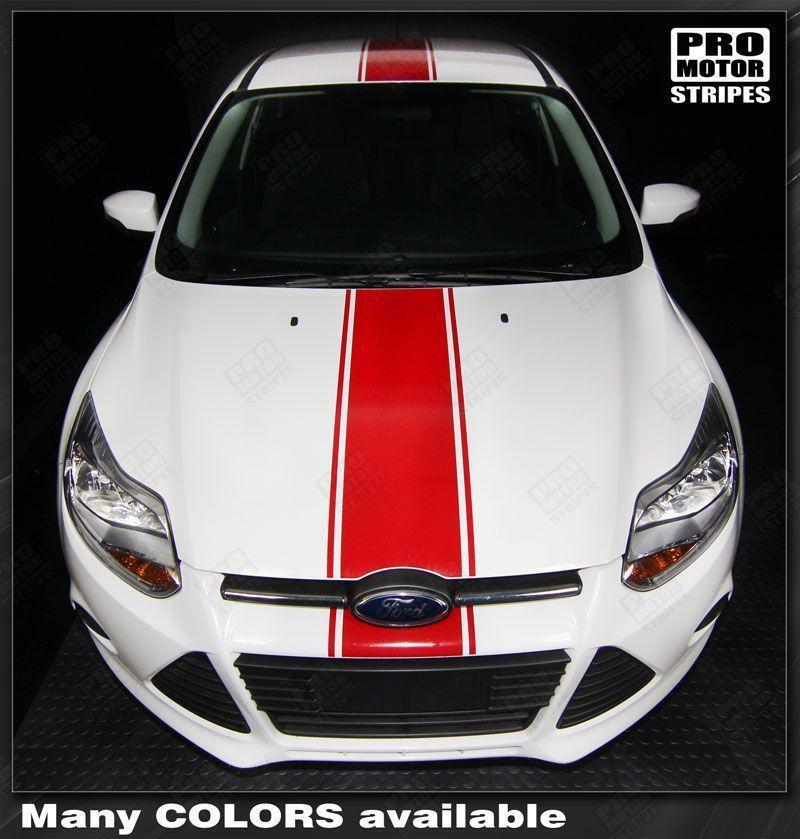 2011 2012 2013 2014 Ford Focus hood  trunk  bumper  roof Decals Stripes 132253225965-1