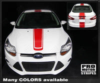 Ford Focus 2011-2014 Over-The-Top Narrow Center Stripes