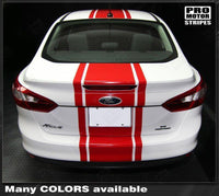 2011 2012 2013 2014 Ford Focus hood  trunk  bumper  roof Decals Stripes 132229419787-2