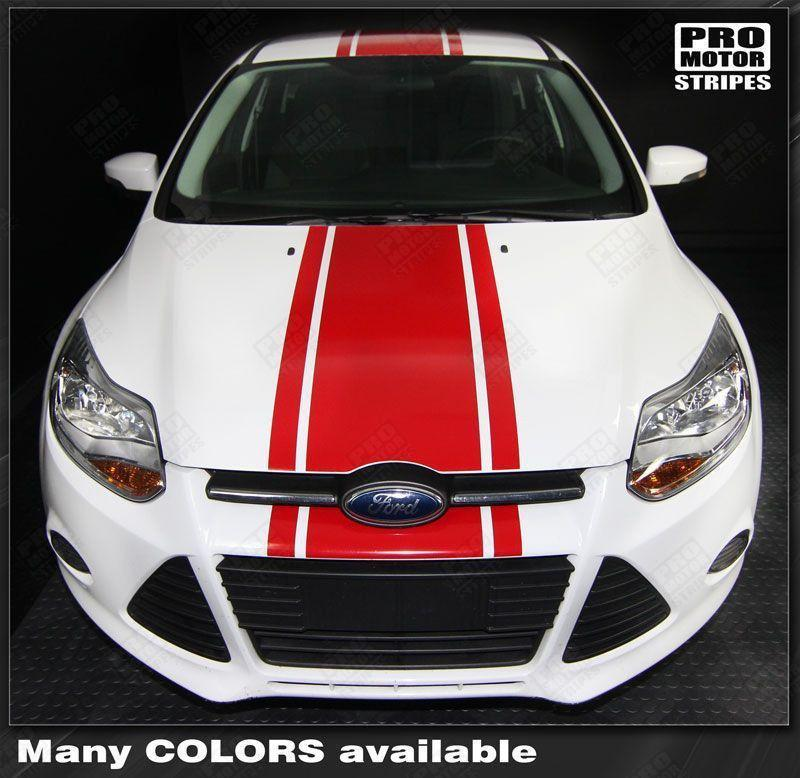 2011 2012 2013 2014 Ford Focus hood  trunk  bumper  roof Decals Stripes 132229419787-1