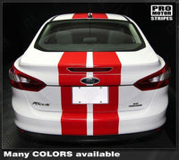 Ford Focus 2011-2014 Pre-cut Over-The-Top Double Stripes Auto Decals - Pro Motor Stripes