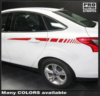 Ford Focus 2011-2014 Rear Quarter Side Accent Stripes Auto Decals - Pro Motor Stripes