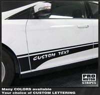2011 2012 2013 2014 2015 2016 2017 2018 Ford Focus side  door  rocker panel Decals Stripes 152615240205-2