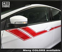 2011 2012 2013 2014 2015 2016 2017 2018 Ford Focus side  door Decals Stripes 152588454784-1