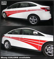 2011 2012 2013 2014 2015 2016 2017 2018 Ford Focus side  door Decals Stripes 152588450856-1